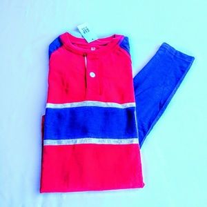 GAP KIDS LONG SLEEVE HENLEY SHIRT SIZE M